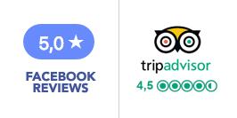 Reviews Facebook and Trip Advisor
